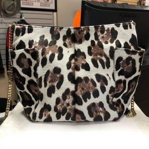 Jimmy Choo Anabel Pony Hair Leopard Shoulder Bag